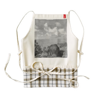 Beauty in black and white zazzle HEART apron