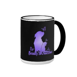 Beauty In Innocence Ringer Coffee Mug