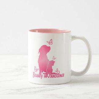 Beauty In Innocence Two-Tone Coffee Mug