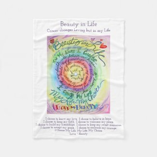 Beauty in Life Cancer Poem Chemo Fleece Blanket