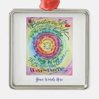Beauty in Life Cancer Poem Holiday Ornaments