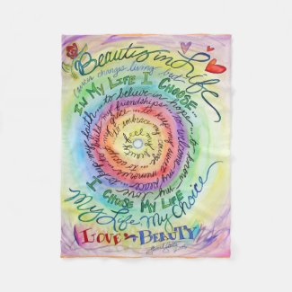 Beauty in Life Cancer Poem Soft Fleece Blankets