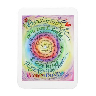 Beauty in Life Rainbow Cancer Poem Art Magnets
