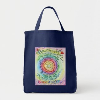 Beauty in Life Rainbow Cancer Poem Tote Bags