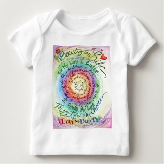 Beauty in Life Rounded Rainbow Baby T-Shirt