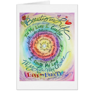 Beauty in Life Rounded Rainbow Card