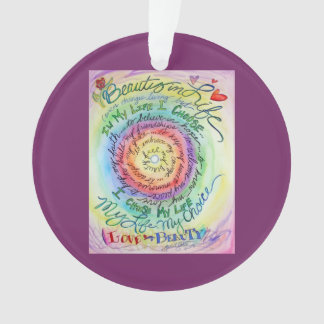 Beauty in Life Rounded Rainbow Holiday Ornament