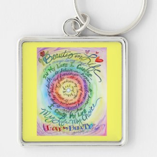 Beauty in Life Rounded Rainbow Keychain