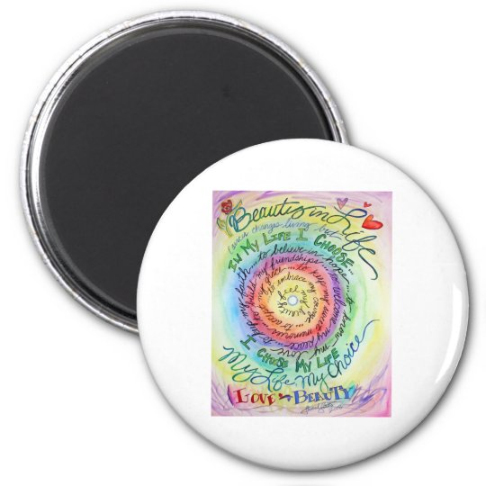 Beauty in Life Rounded Rainbow Magnet