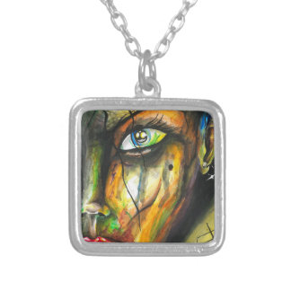 Beauty in Perseverance - Watercolor Art Silver Plated Necklace