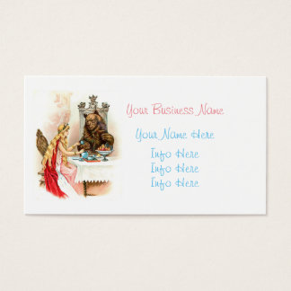 Beauty In Pink And The Beast Business Card