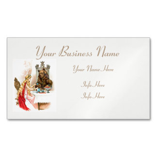 Beauty In Pink And The Beast Business Card Magnet