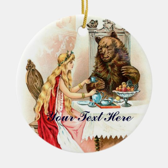 Beauty In Pink And The Beast Ceramic Ornament