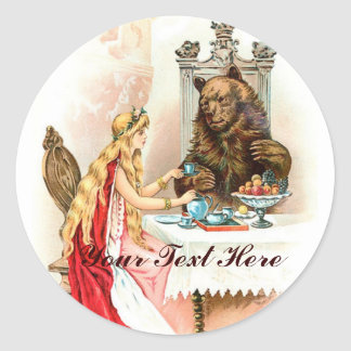 Beauty In Pink And The Beast Classic Round Sticker