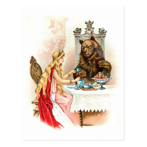 Beauty In Pink And The Beast Postcards
