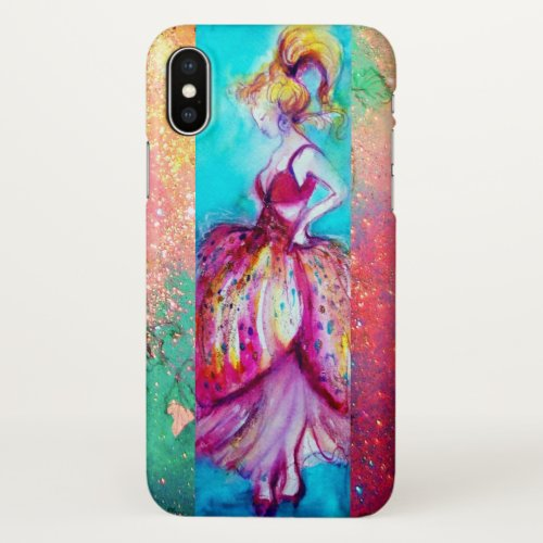 BEAUTY IN PINK DRESS Green iPhone Case Phone Case