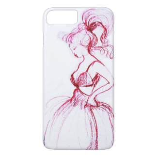 BEAUTY IN PINK DRESS iPhone 8 PLUS/7 PLUS CASE