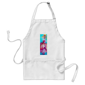 BEAUTY IN PINK DRESS / Magic Butterfly Plant Adult Apron