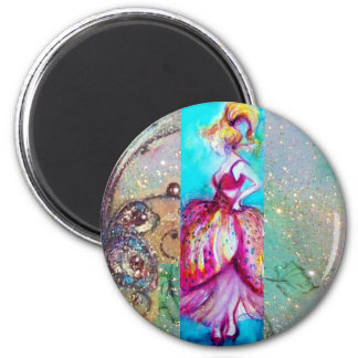 BEAUTY IN PINK DRESS / Magic Butterfly Plant Magnet