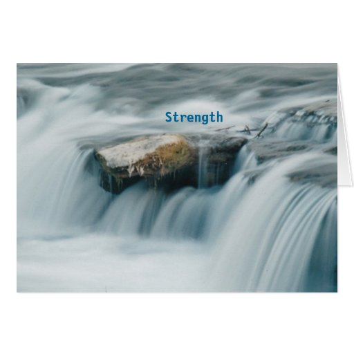 BEAUTY IN STRENGTH greeting card