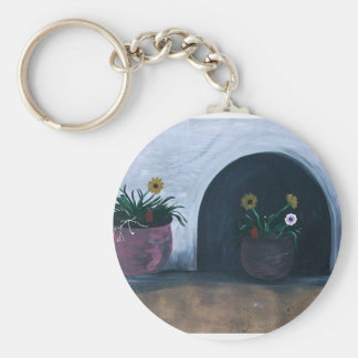 Beauty in the Breakdown, vibrant color Basic Round Button Keychain