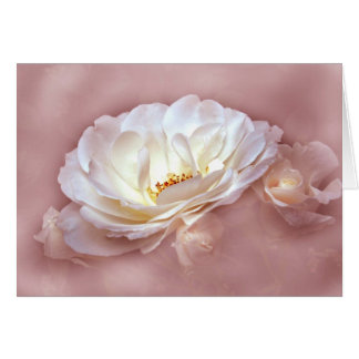 BEAUTY IN THE MIST - Dusky Rose Greeting Cards