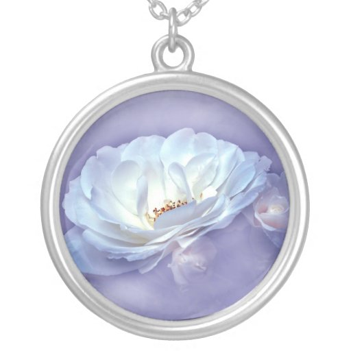BEAUTY IN THE MIST - LAVENDER ROUND PENDANT NECKLACE