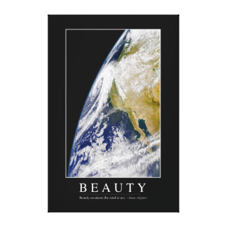 Beauty: Inspirational Quote 1 Canvas Print