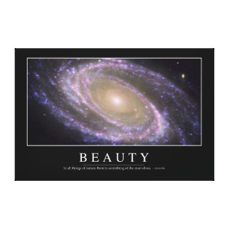 Beauty: Inspirational Quote 2 Canvas Print