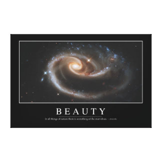 Beauty: Inspirational Quote 3 Canvas Print
