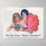 Beauty Insurance Advertisement Poster