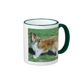 BEAUTY IS A ROUGH COLLIE RINGER MUG
