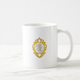 Beauty is eternity gazing at itself in a mirror. classic white coffee mug