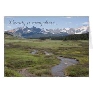 Beauty is Everywhere Romantic Card