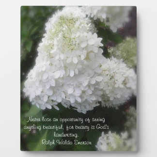 Beauty is God's Handwriting Floral Easel Plaque