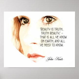 Beauty is Truth - John Keats - Art Print