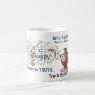 Beauty is Truth John Keats Ode on a Grecian Urn Classic White Coffee Mug