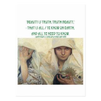 Beauty is Truth, Truth Beauty Postcard