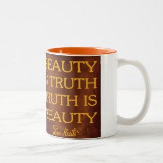 Beauty is Truth Two-Tone Coffee Mug