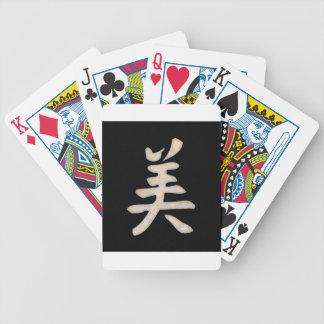 Beauty Kanji Bicycle Playing Cards