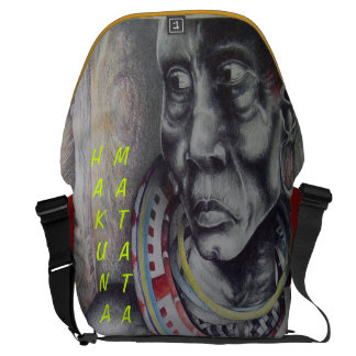 Beauty Lady Hakuna Matata Rickshaw Messenger Bag
