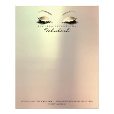 Beauty Lashes Makeup Stylist Eyebrows Gold Rose Flyer