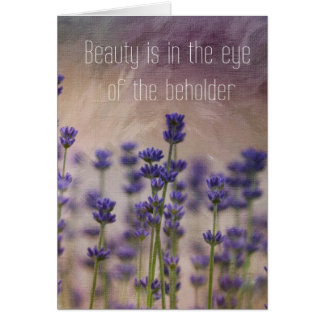 Beauty Lavender Flowers Card
