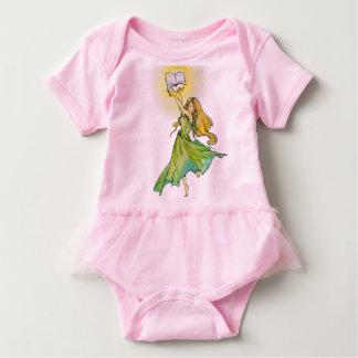 Beauty loves to read Baby Tutu Bodysuit