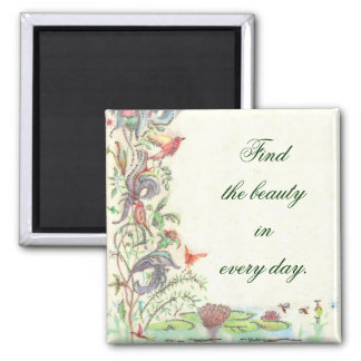 Beauty 2 Inch Square Magnet