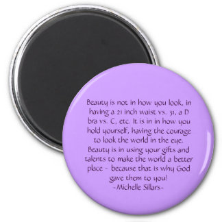 Beauty 2 Inch Round Magnet