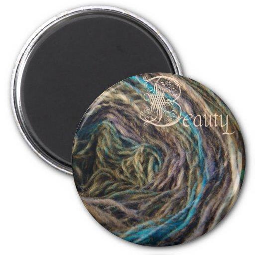 beauty magnet, blue noro