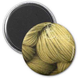 beauty magnet, green silk