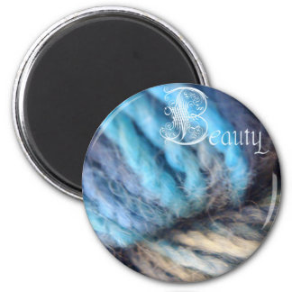 beauty magnet, looking glass 2 inch round magnet