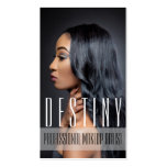 Beauty MakeUp Artist Cosmetology Hair Salon Double-Sided Standard Business Cards (Pack Of 100)